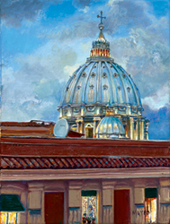 Basilica in My Window. Click here to see enlargement. © Ruth Mayer Fine Art.