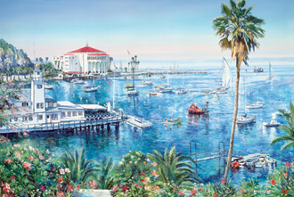 Catalina Adventure. Click here to see enlargement. © Ruth Mayer Fine Art.