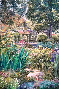Grandfathers Garden. Click here to see enlargement. © Ruth Mayer Fine Art.