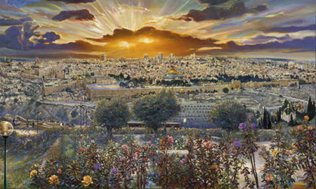 Jerusalem. Click here to see enlargement. © Ruth Mayer Fine Art.