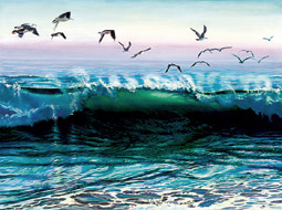 Norian's Wave. Click here to see enlargement. © Ruth Mayer Fine Art.