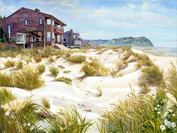 Seaside. Click here to see enlargement. © Ruth Mayer Fine Art.